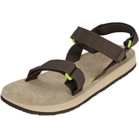 SOURCE Leather Urban Sandals Men Brown/Green
